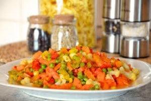 Zero Oil Mixed Vegetables