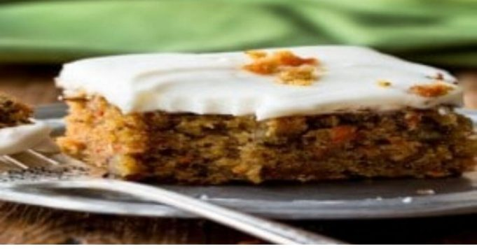 CARROT CAKE WITH PINEAPPLE CREAM CHEESE FROSTING